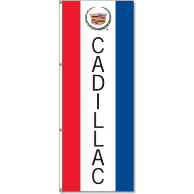 Cadillac Logo Flag Red White Blue