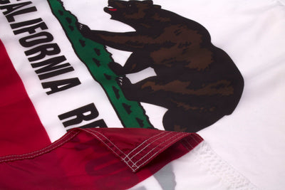 California Flag Close Up