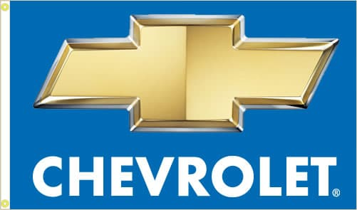 Chevrolet Flag with Chevy Blue background