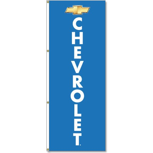 Chevrolet Logo Flag - Blue