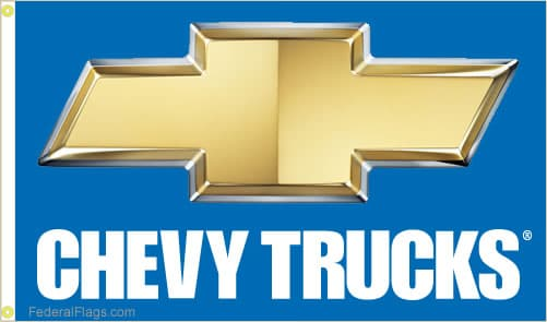 3x5 ft. Chevy Trucks Logo Flag