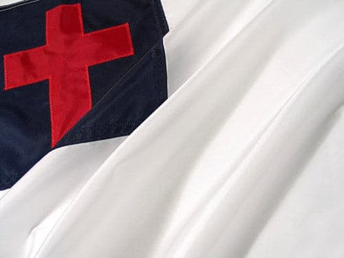 5x8ft Christian Flag with Appliqued Cross - Heavy Duty Outdoor Nylon