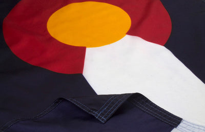 Colorado Flag Close Up