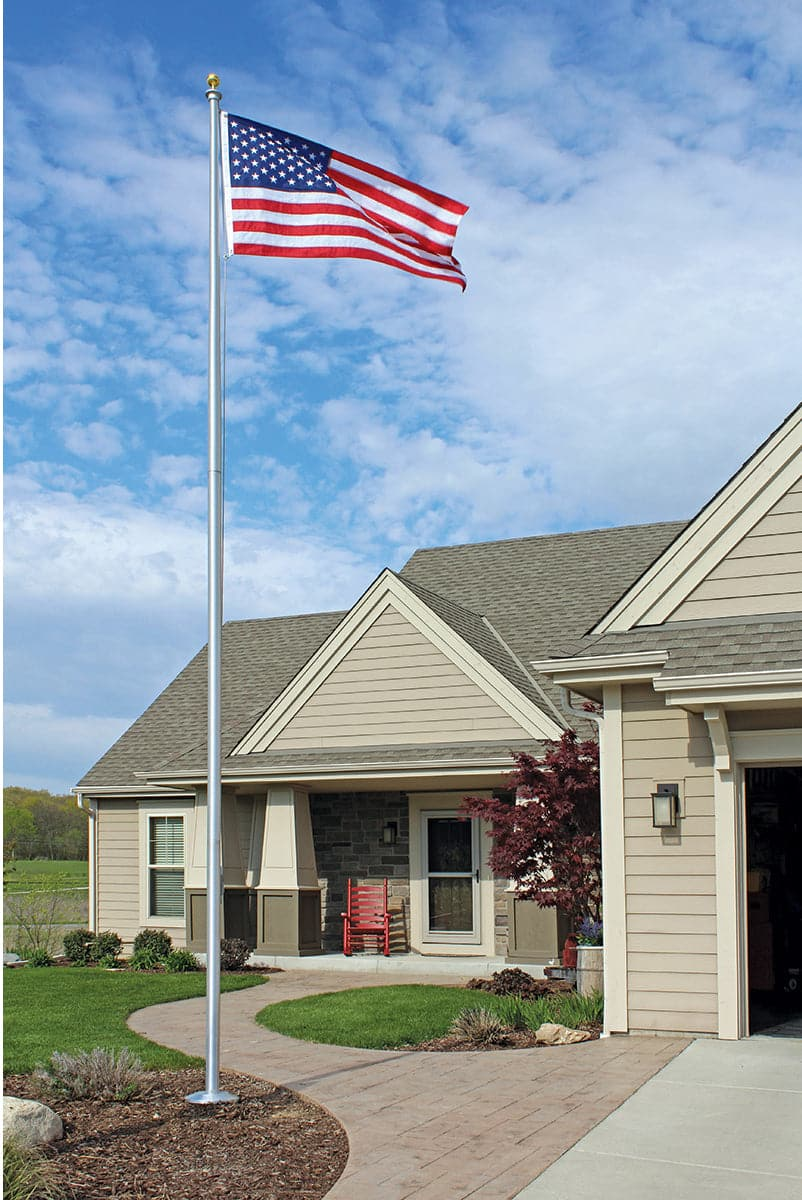 25 ft. Commercial Grade Sectional Aluminum Flagpole