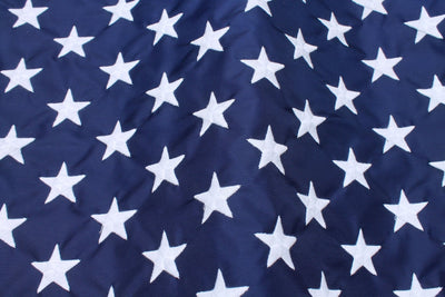 US Flag - Embroidered Stars on Union