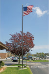 Commercial Aluminum Flagpole - Black Anodized Finish