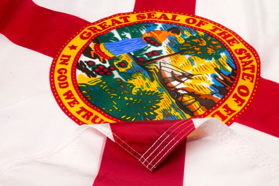 Florida Flag Close Up
