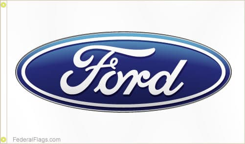 3x5 ft. Ford Logo Flag