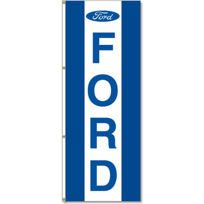 Ford Dealer Logo Flag Blue White Blue - 3x8