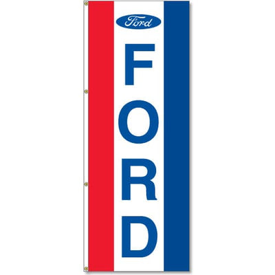 Ford Dealer Logo Flag Red White Blue - 3x8