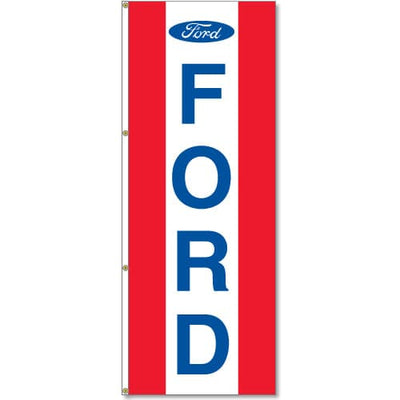 Ford Dealer Logo Flag Red White Red - 3x8