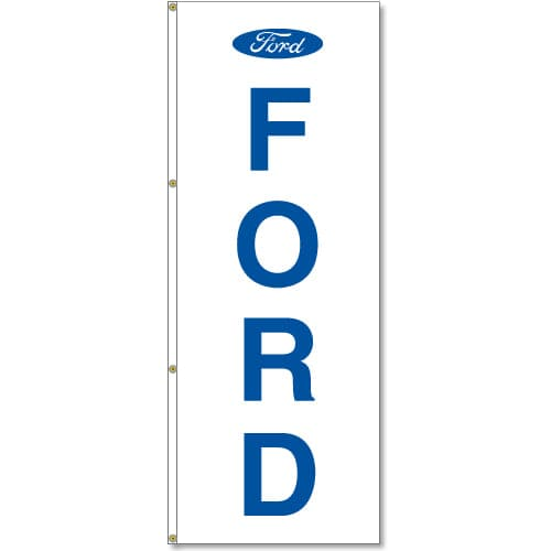 3x8ft Vertical Ford Logo Flag / Single sided printing