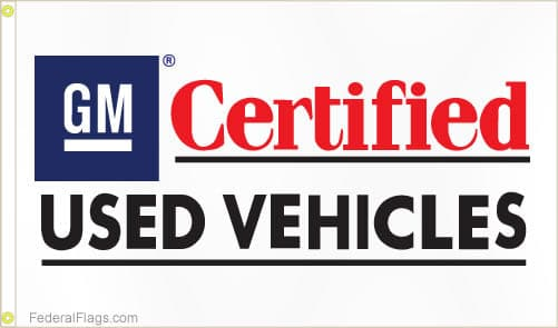 3x5 ft. GM Certified Vehicles Logo Flag