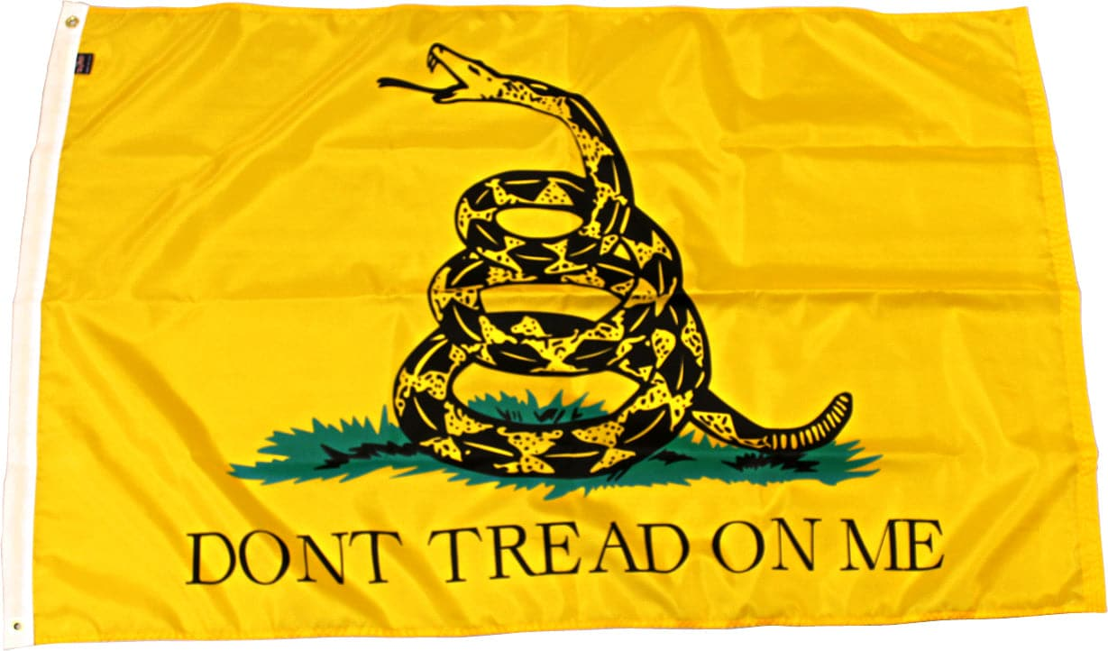 5x8ft Premium Quality Gadsden Flag
