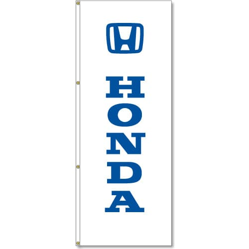 3x8ft Vertical Honda Logo Flag / Double Sided Printing