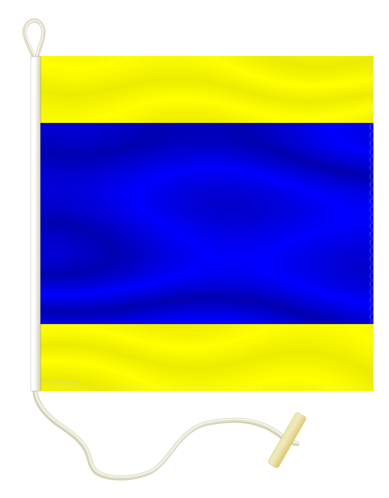 Signal Flag: D - DELTA - 1x1ft 3in (Size 0)