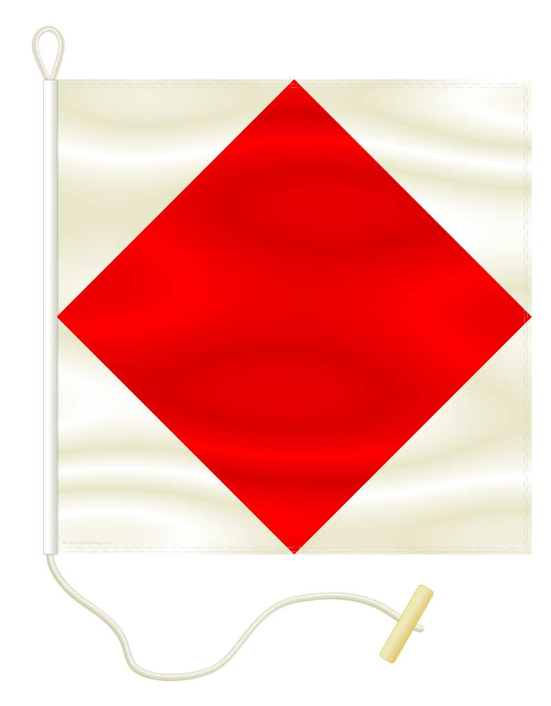 Signal Flag: F - FOXTROT - 1x1ft 3in (Size 0)