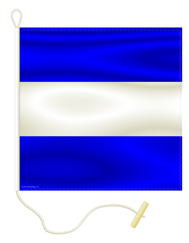Signal Flag: J - JULIET - 4x6ft (Size 14)
