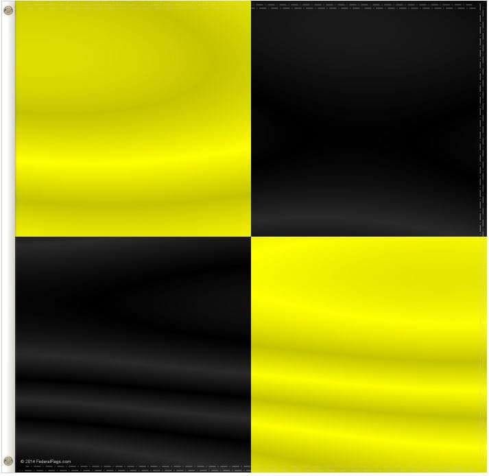 Signal Flag: L - LIMA - Quarantine Flag - 2x2ft (Size 3)