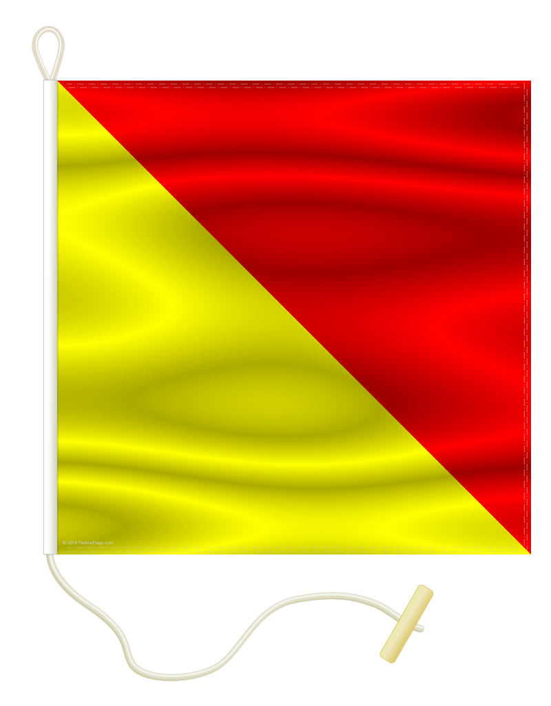 Nautical Signal Flag O - OSCAR