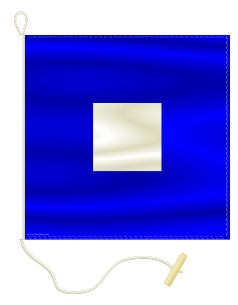 Signal Flag: P - PAPA - 1x1ft 3in (Size 0)