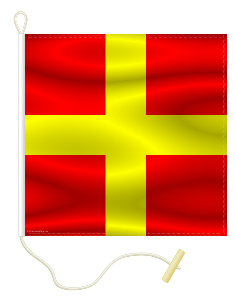 Signal Flag: R - ROMEO - 2x2ft (Size 3)