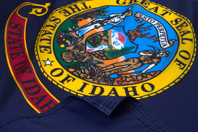 Idaho Flag Close Up