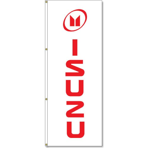 3x8ft Vertical Isuzu Logo Flag / Double Sided Printing