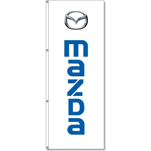 3x8ft Vertical Mazda Logo Flag / Double Sided Printing