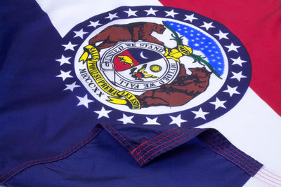 Missouri Flag Close Up