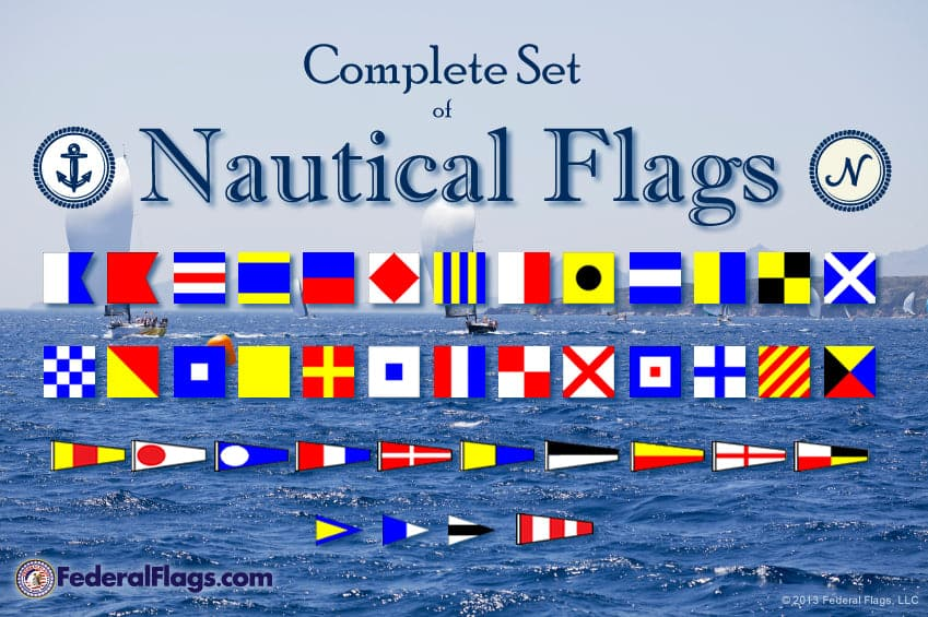Complete ICOS Maritime Signal Flag Set