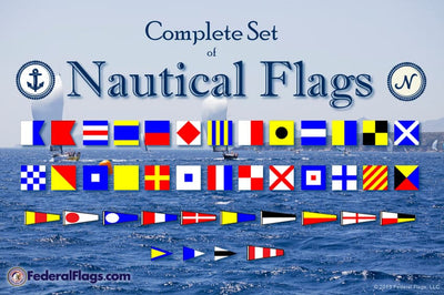 Complete ICOS Maritime Signal Flag Set - Size 7