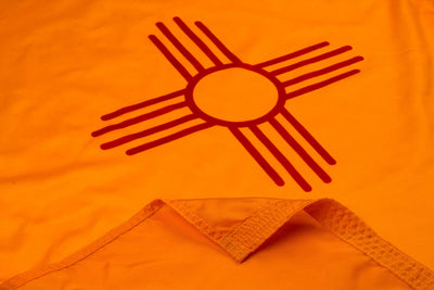 New Mexico Flag Close Up