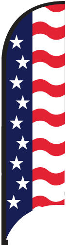 Patriotic Wave Bow Flag