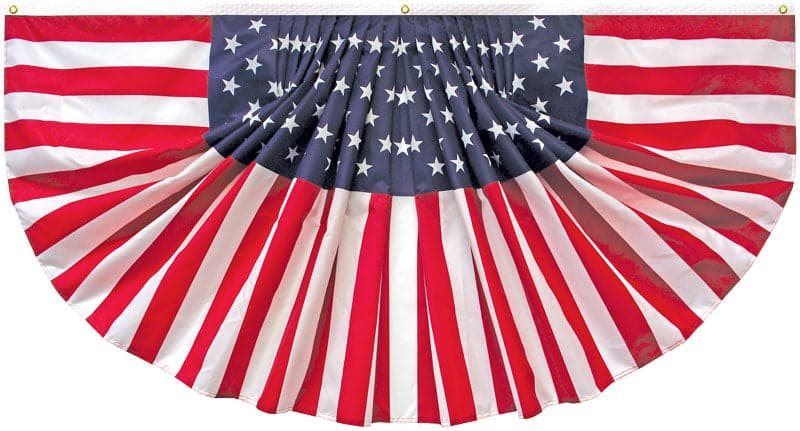 Pleated American Flag Fan