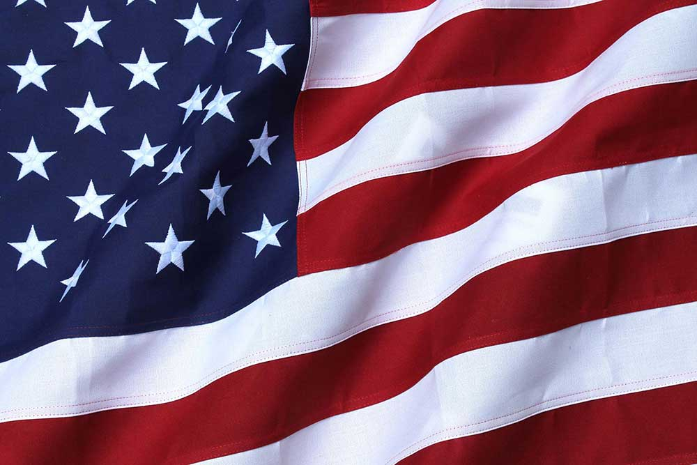 Pack of 2 USA Embroidered Flag 8x12ft