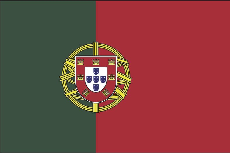 5x8ft Portugal Flag