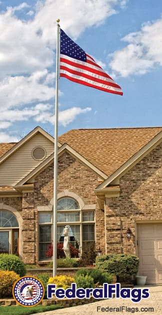 Residential In-Ground Aluminum Flagpole