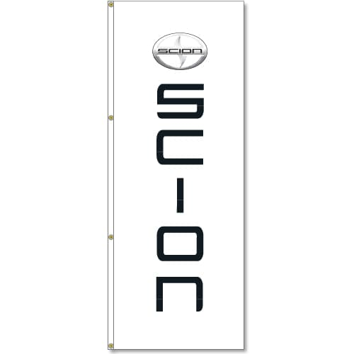 3x8ft Verical Scion Logo Flag / Double Sided Printing