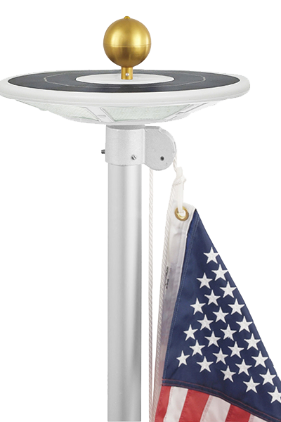 Solar Flagpole Light Assembly
