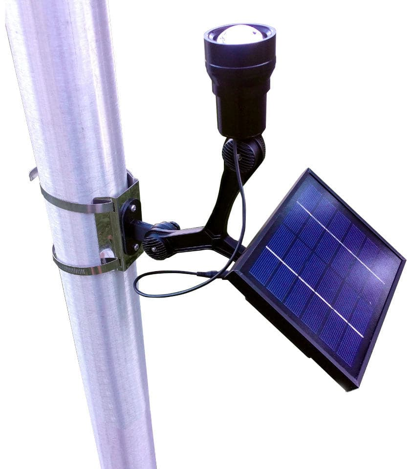 Solar Powered Flagpole Spot Light - For Flagpoles up to 60ft Tall