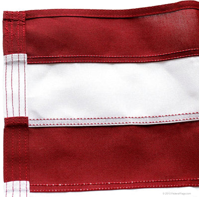 Heavy Duty 2-Ply Polyester American Flag - Sewn Stripes - Reinforced Flyend