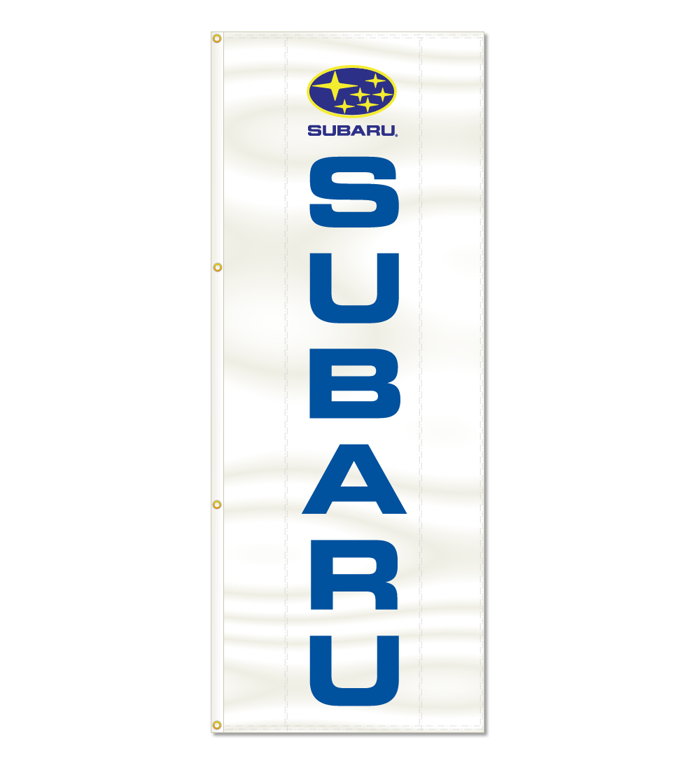 3x8ft Vertical Subaru Logo Flag / Double Sided Printing