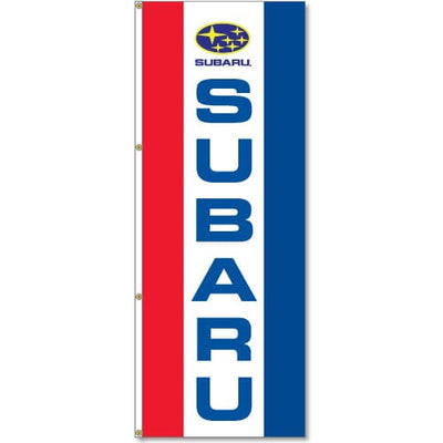 3x8ft Vertical Subaru Logo Flag / Single sided printing