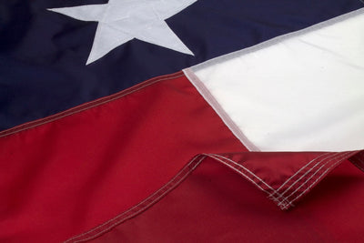 Outdoor Nylon Texas Flag Close Up