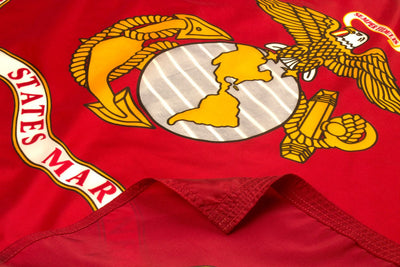 US Marine Corps Flag - Outdoor Nylon - closeup