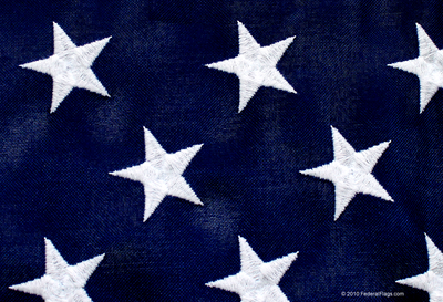 Heavy Duty 2-Ply Polyester American Flag - Union - Embroidered Stars