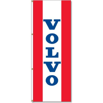 3x8ft Vertical Volvo Logo Flag / Double Sided Printing