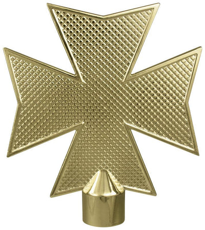 Maltese Metal Cross Flagpole Ornament