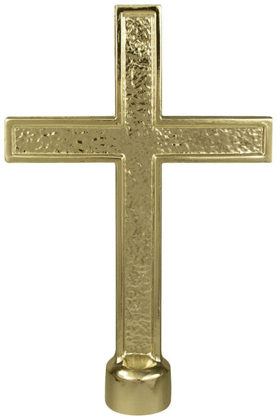 Metal Cross Flagpole Ornament
